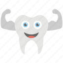 dental, healthy tooth, smiling tooth, strong tooth, tooth icon