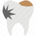 caries, decay, dental, dental caries, tooth decay icon