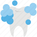 bubbles, cleaning, dental, tooth, tooth cleaning icon
