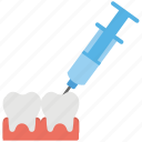 anesthesia, anesthetic, dental, injecting, injection icon