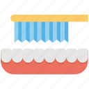 brushing teeth, cleaning, teeth, tooth brushing, toothbrush icon