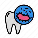 bacteria, medicine, oral, stomatology icon