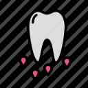blood, medicine, oral, stomatology icon