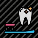 brushing, medicine, oral, stomatology icon