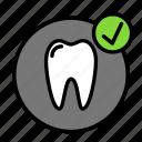 check, medicine, oral, stomatology icon