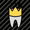 crown, medicine, oral, stomatology icon