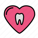 heart, medicine, oral, stomatology icon