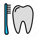 brush, medicine, oral, stomatology, tooth icon