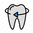 left, medicine, oral, stomatology, tooth icon