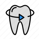 medicine, oral, right, stomatology, tooth icon