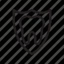 dental, protection, shield, teeth icon