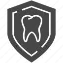 dental, shield, tooth icon