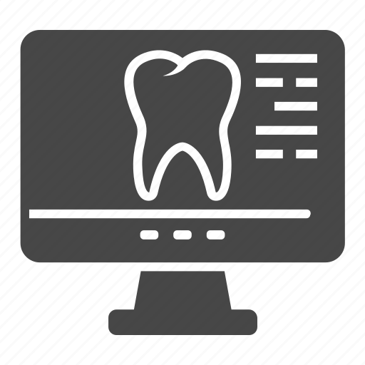 dental, monitor, mouth, tooth icon