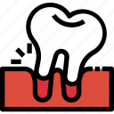 dental, dentist, healthcare, loose, medical, tooth icon