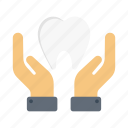 teeth, protection, dental, secure, oral icon