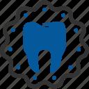 badge, care, dental, dentistry, gum, teeth, tooth icon