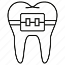 brace, care, dental, tooth icon