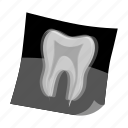 dentistry, tooth, x-ray icon