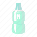 bottle, elixir, toothbrush icon