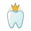 crown, dental, stomatology, tooth icon