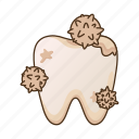 caries, dental, stomatology, tooth icon