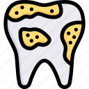 caries, decayed, dental care, dentist, germ, health, tooth