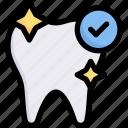 clean teeth, dental care, dentist, health, healthy teeth with the correct mark, tooth, white teeth