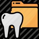 dental, dentist, files, filesfolders, healthcare, medical, records icon