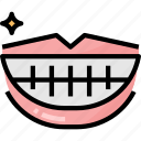 bodyparts, healthcare, hygieneproducts, lips, mouth, smile, teeth icon