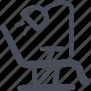 dental, dental chair, dental treatment, dentist, dentistry, doodle, medical icon