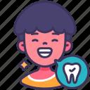 child, healthy, clean, teeth, happy, kid, smile