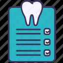 teeth, dental, checking, healthy, paper