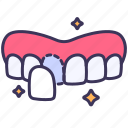 beauty, dental, enamel, teeth, veneers icon