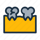 broken, dental, health, hollow, perforated, teeth, tooth icon