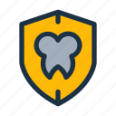 dental, protect, protection, safe, shield, teeth, tooth icon