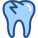 broken, broken tooth, dental, dental treatment, dentist, dentistry, tooth icon