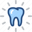 bright, dental, dental care, dentist, dentistry, tooth, white tooth icon