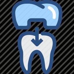 dental, dental crown, dental treatment, dentist, dentistry, teeth, tooth icon