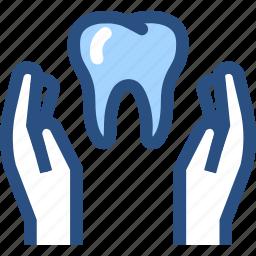 dental, dental care, dental health care, dentist, dentistry, hands, tooth icon