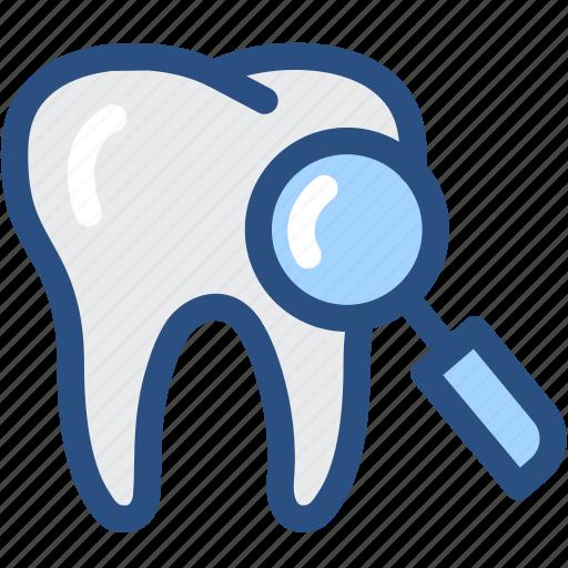 dental, dentist, dentistry, medical, oral hygiene, search, tooth icon