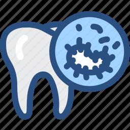 bacteria, dental, dentist, dentistry, oral bacteria, oral hygiene, tooth icon