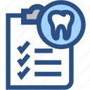 dental, dental records, dentist, dentistry, medical, oral hygiene, tooth icon