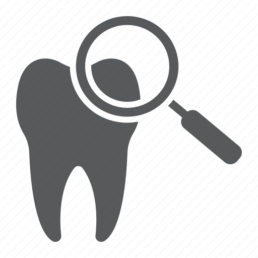 care, check, dental, healthy, magnifying, stomatology, up icon