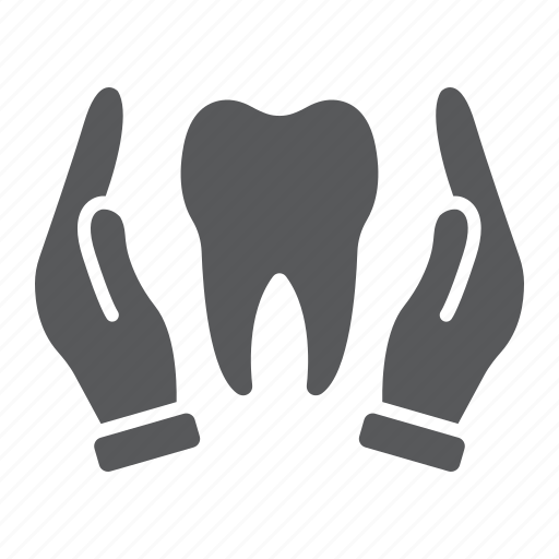 care, dental, hands, health, holding, stomatology, tooth icon
