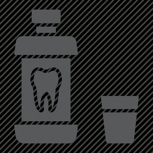 bottle, care, clean, dental, health, hygiene, mouthwash icon