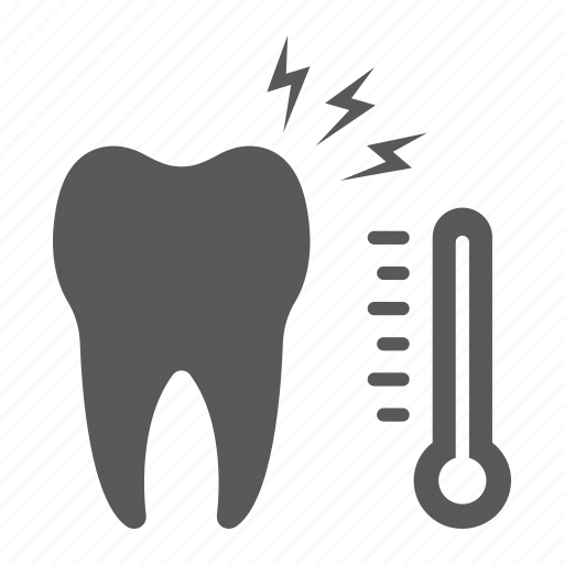 care, dental, sensetive, sick, stomatology, temperature, tooth icon