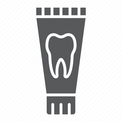 care, clean, dental, health, hygiene, toothpaste, tube icon