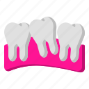 clinic, dentist, molars, tooth icon