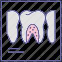 dental care, dentist, dentistry, stomatology, tooth x ray, x ray machine icon