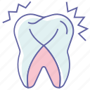 dental tooth, dentist, healthcare, root sensitivity, sensitive teeth, tooth sensitivity icon